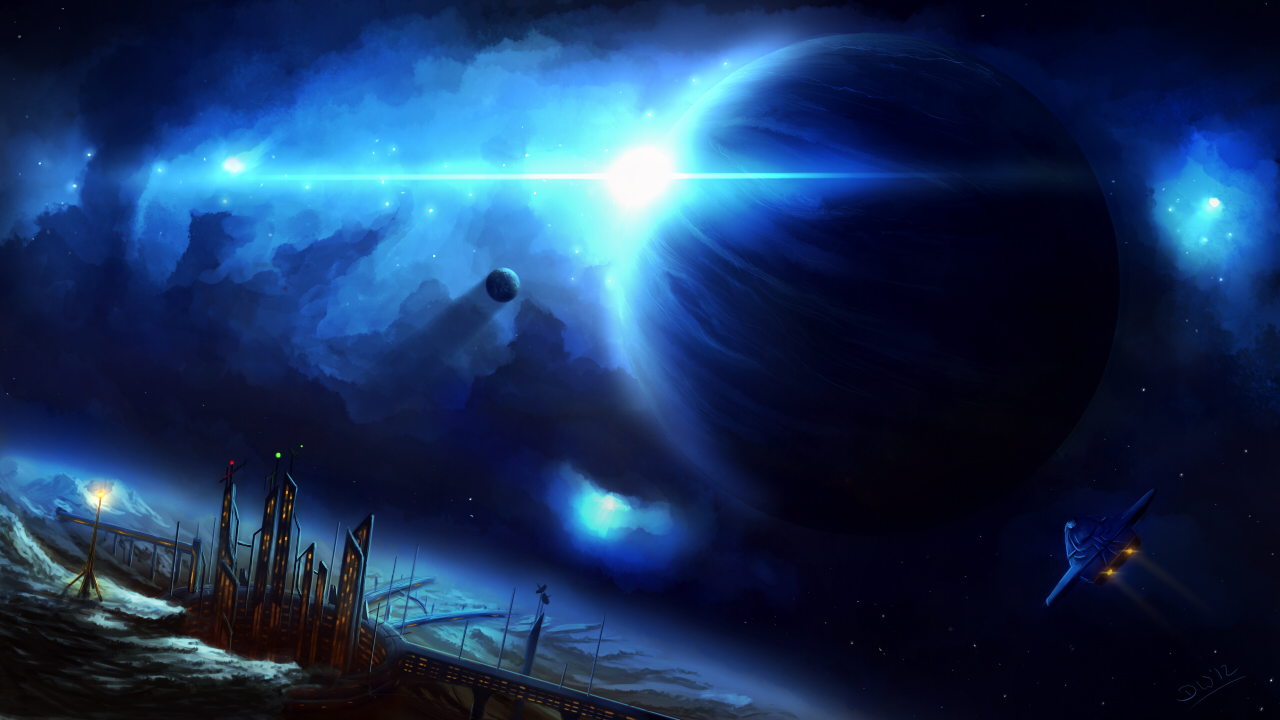 blue giant star in space - photo #30